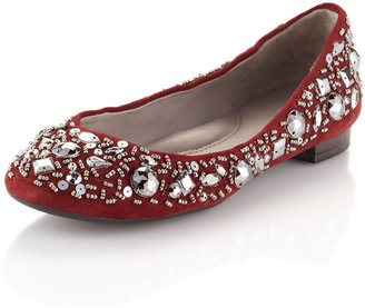 Kenneth Cole Sparkle N Shine Beaded Slip-On, Ruby