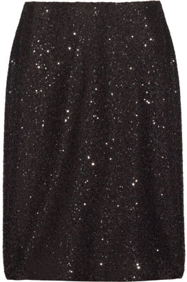 Calvin Klein Collection Mayfair sequin-embellished pencil skirt