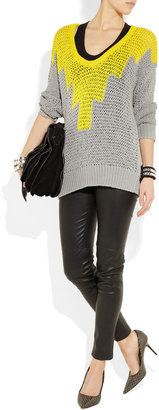 Alexander Wang Hand-knitted stretch-cotton sweater