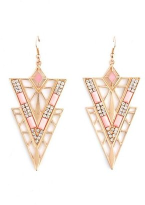 Charlotte Russe Deco Triangle Dangle Earrings