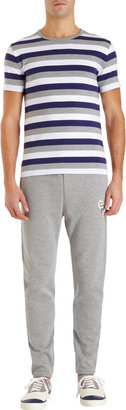 Thom Grey Drawstring Waist Sweat Pants