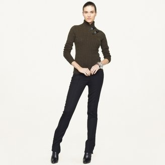 Ralph Lauren Black Label Buckle-Collar Cashmere Sweater