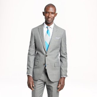 J.Crew Ludlow suit jacket in windowpane Italian wool-cotton