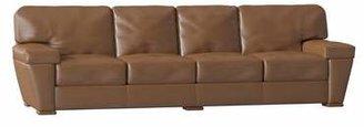 Omnia Leather Prescott Sofa Omnia Leather Body Fabric: Empire Butternut, Seat Cushion Fill: Standard Cushion Fill, Back Cushion Fill: Standard Cushion Fill
