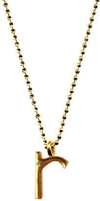 Ariel Gordon R Initial Pendant Necklace