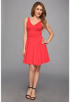 ABS by Allen Schwartz V-Neck A-Line Flounce Dress