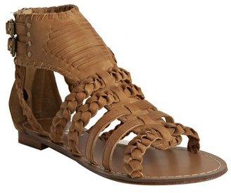 Candela tan leather 'Native' flat sandals