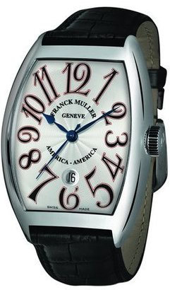 Franck Muller Men's Limited Edition USA Curvex Watch with Alligator Strap $9,990 thestylecure.com