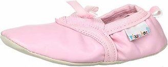 Playshoes Girls Ballerina Ballet Flats and Gymnastic Shoes Bow Flatform 208752 6 UK Child, 22 EU, Regular
