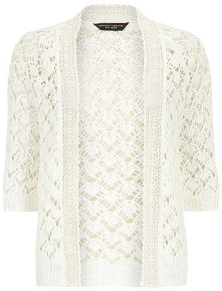 Dorothy Perkins White crochet trim cardigan