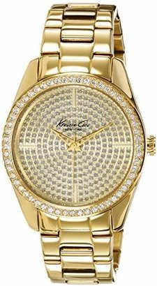 Kenneth Cole New York Women's Quartz Stainless Steel Case Stainless Steel Bracelet Gold