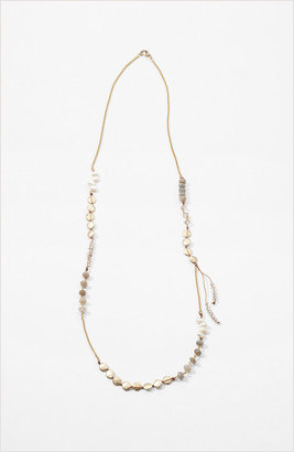 J. Jill Pearl & beads goldtone necklace