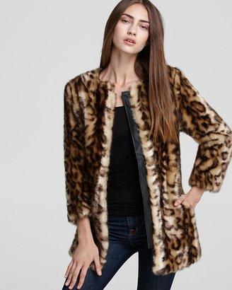GUESS Coat - Ruth Faux Fur Leopard
