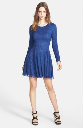 Nordstrom FELICITY & COCO Long Sleeve Lace Fit & Flare Dress Exclusive)