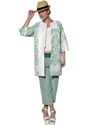 Antonio Marras Techno Cotton Jacquard Lamè Coat
