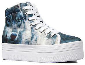 Jeffrey Campbell The HIYA Sneaker in Wolf Print