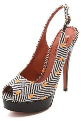 Missoni Slingback Peep Toe Sandals