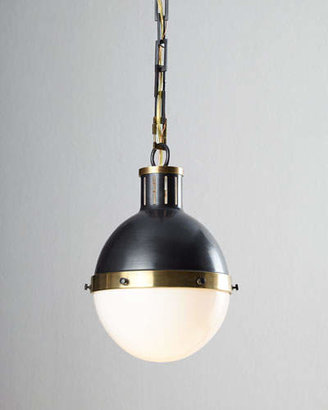Thomas O'Brien TOB by Hicks 2-Light Extra-Large Bronze with Antiqued Brass Pendant