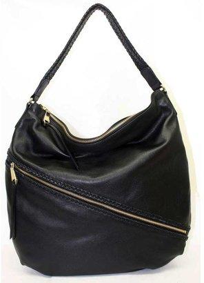 """Christopher Kon PL01739"""" Black Leather Hobo Shoulder Bag"""