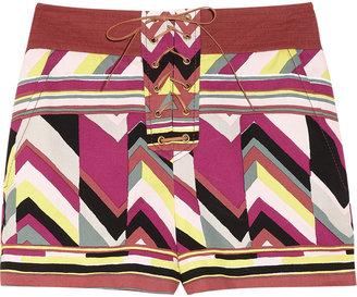 M Missoni Printed cotton shorts