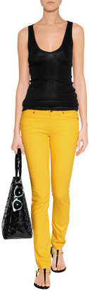 7 For All Mankind Seven Drill Yellow Classic Skinny Cristen Jeans