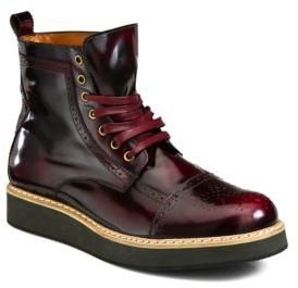 McQ by Alexander McQueen Derby Toe Brogue Boots