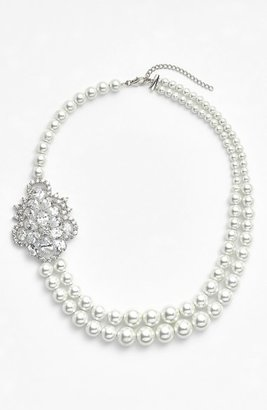 Nina 'Jannie' Faux Pearl Choker Necklace