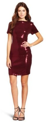 Ali Ro Women's Short-Sleeve Sequin Dress