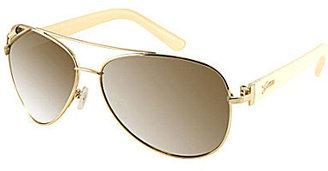 GUESS Metal Aviator Sunglasses