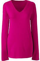 Lands' End Women's Tall Relaxed Supima V-neck T-shirt-Rich Sapphire