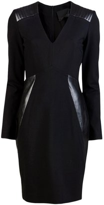 Yigal Azrouel Ponte leather dress