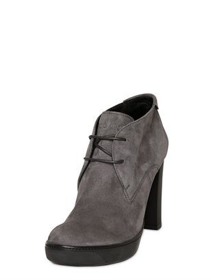 Hogan 110mm Opti Suede Lace Up Boots