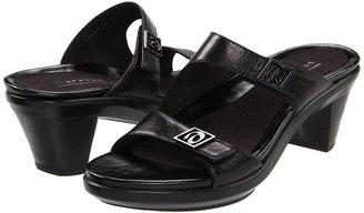 Aravon Angela (Black Leather) - Footwear