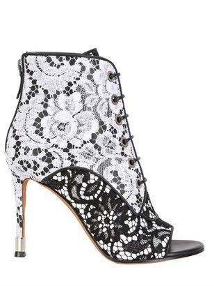 Givenchy 100mm Nappa Macramé Open Toe Boots