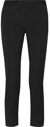 Reed Krakoff Cropped cotton-blend piqué skinny pants