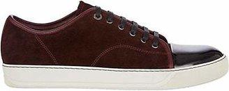 Lanvin Men's Cap-Toe Suede & Leather Sneakers - Dark Red