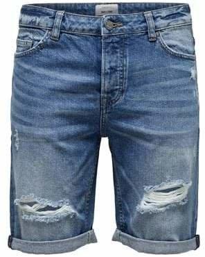 ONLY & SONS Destroyed Denim Shorts