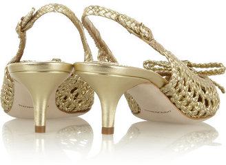 Dolce & Gabbana Woven metallic leather pumps