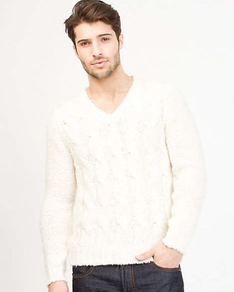 Le Château Wool Blend Textured Sweater