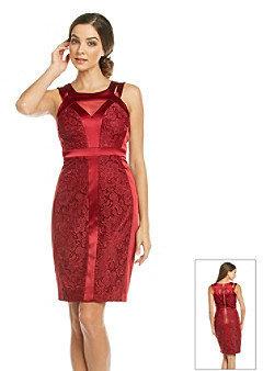 Jax Spliced Lace and Satin Dress