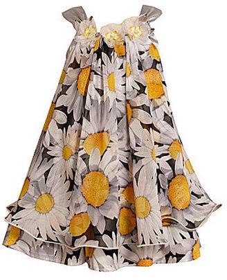 Bonnie Jean 7-16 Daisy Mesh Trapeze Dress