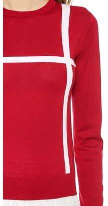 J.W.Anderson Cross Crew Neck Sweater