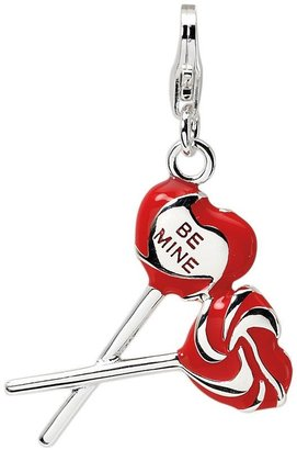 Amore La Vita Sterling Red Heart and Be MineLollipops Charm