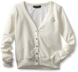 Baby Phat Girls 7-16 Cardigan With Lace Back