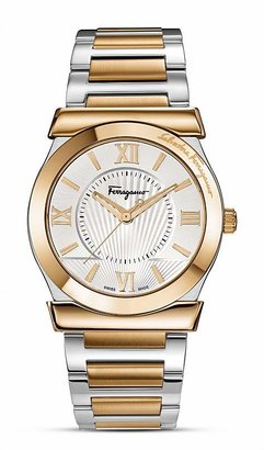 Salvatore Ferragamo Vega Silver Sunray Dial Watch, 38mm