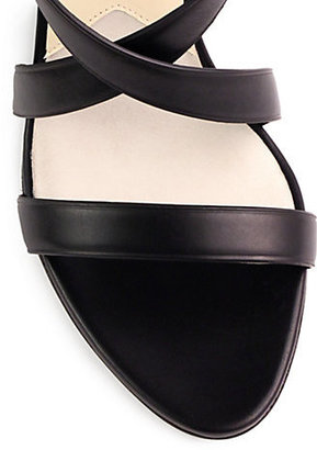 Brian Atwood Hegemone Leather Cuff Sandals