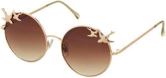 Topshop Swallow Trim Round Sunglasses