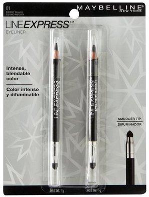 Maybelline Line ExpressTM Eyeliner - Ebony Black - 2 pack - 0.035 oz each