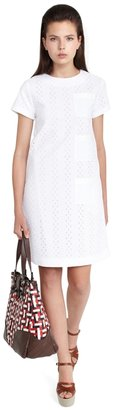 Brooks Brothers Short-Sleeve A-line Dress