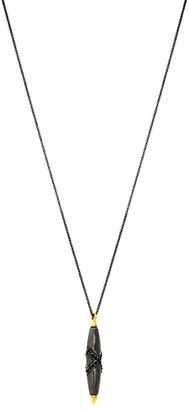 House Of Harlow Obsidian Feather Necklace